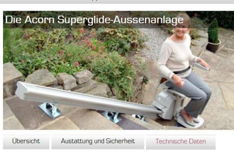Treppenlift für den Garten