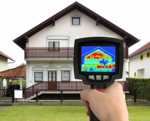 Wärmebildkamera für thermografische Untersuchung