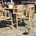 Gartenstuhl aus Rattan