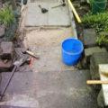 Baustelle vom neuen Gartenweg