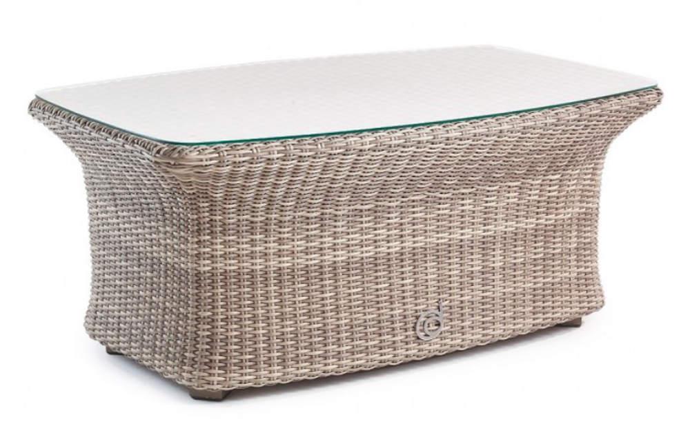 Lounge Gartentisch mit Glasplatte